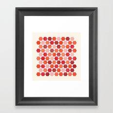 Red Tiles Framed Art Print