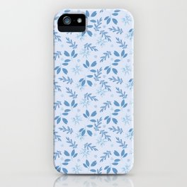 Blue Sprigs Gift Wrap iPhone Case