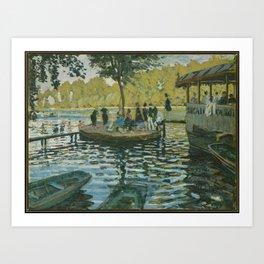 Claude Monet - La Grenouillère (1869) Art Print