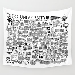Ohio University Map Wall Tapestry