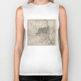 Vintage Map of Washington D.C. (1815) Biker Tank