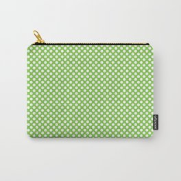 Jasmine Green and White Polka Dots Carry-All Pouch