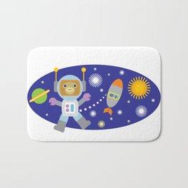 Space Chimp Astronaut Monkey Bath Mat