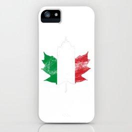 Italy/Canada iPhone Case