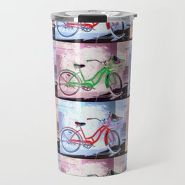 Bicycle Pattern Key West Travel Mug