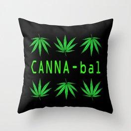 Canna-bal Throw Pillow