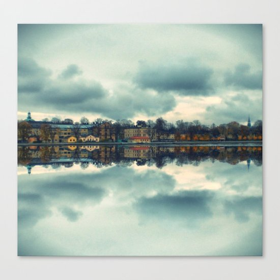 Stockholm upside-down Canvas Print