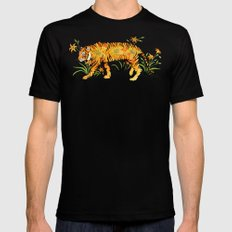 Tiger Lily  MEDIUM Black Mens Fitted Tee