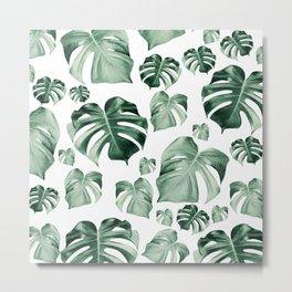 Tropical Monstera Pattern #2 #tropical #decor #art #society6 Metal Print