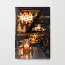Candlelight Lounge Metal Print