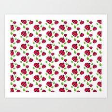 Ladybird pattern Art Print