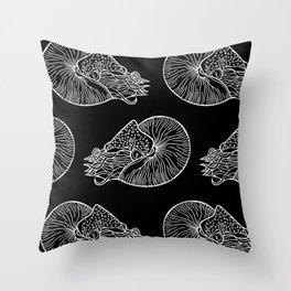 Nautilus in White Throw Pillow
