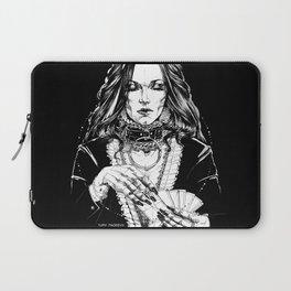 Smoker Lady. In Black Silk. Yury Fadeev Laptop Sleeve