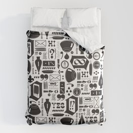 Write This Way Pattern Comforters