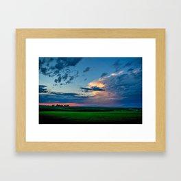 Montana Sunset Framed Art Print