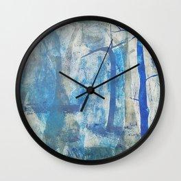 Blue Mist Forest Wall Clock