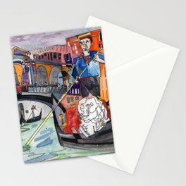 Lovers in Venice Stationery Cards