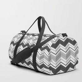 CHEVRON STRIPES - BLACK Duffle Bag