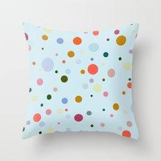 Blue Confetti Throw Pillow