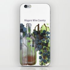 niagara wine country / grapes  / digital painting iPhone & iPod Skin