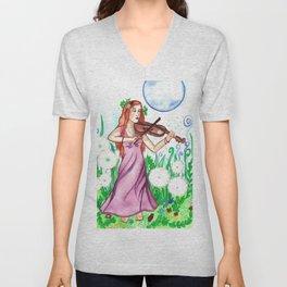 Fiddler and the Moon Unisex V-Neck