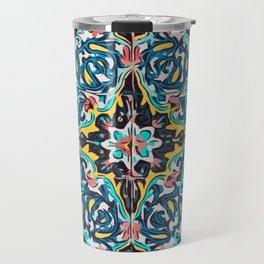 Traditional ceramic tile design Portugal Terrazzo Blobs Travel Mug