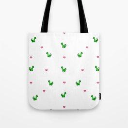 Dino Love White Tote Bag