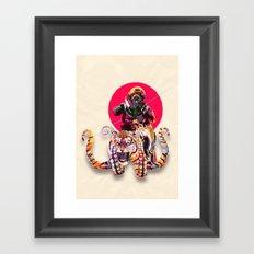 OCTOTIGER OF DOOM Framed Art Print