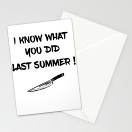 I KNOW WHAT YOU DID LAST SUMMER Stationery Cards