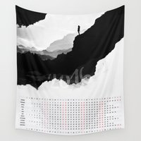 calendar Wall Tapestries featuring White Isolation 2016 Calendar by Stoian Hitrov - Sto