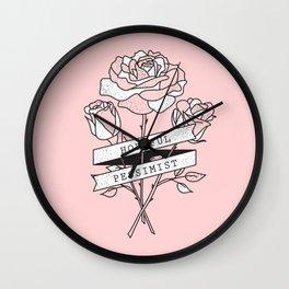 hopeful pessimist Wall Clock