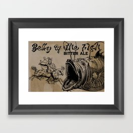 bELLY OF THE fISH bEER Framed Art Print
