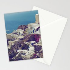 Oia from afar  Stationery Cards