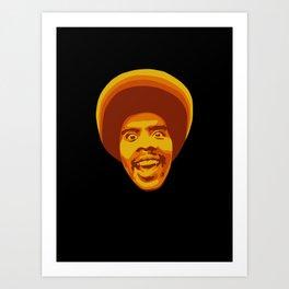 70s style Disco Afro Art Print