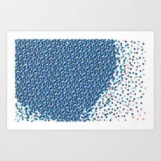 Blue Burts Art Print