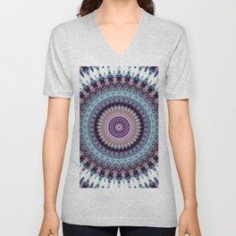 Mandala for Winter Mood Unisex V-Neck