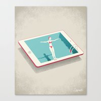 happiness Canvas Prints featuring Happiness by Andrea De Santis