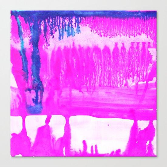 Dip Dye Hot Pink Canvas Print
