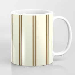 Cream and Brown Stripes Coffee Mug
