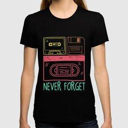 Nineties Old School Cassette Discs T-shirt
