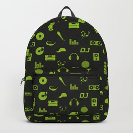 Discjockey Pattern | DJ Music Vinyl Turntables Backpack
