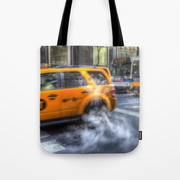New York Taxis Tote Bag