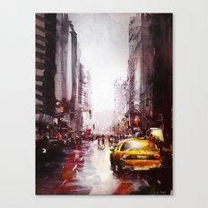 New york painting Canvas Print