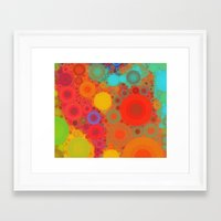 circles Framed Art Prints featuring Circles by Mr & Mrs Quirynen