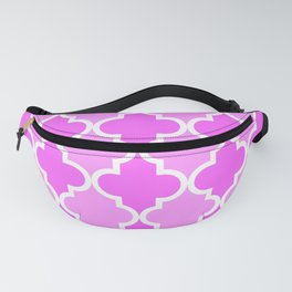 Quatrefoil - dark pink dual Fanny Pack