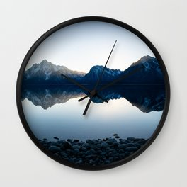 Mountains Over Jackson Lake Wall Clock