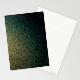 Green Circles Stationery Cards