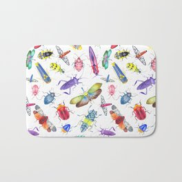 Colorful Bugs and Beetles Collection Bath Mat