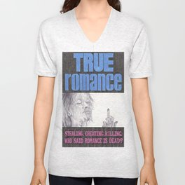 TRUE ROMANCE hand drawn movie poster in pencil Unisex V-Neck