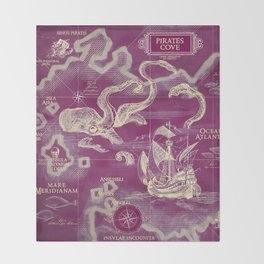 Pirate's Cove Throw Blanket